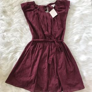 NWT Lauren Conrad Plum Floral Embroidered Dress